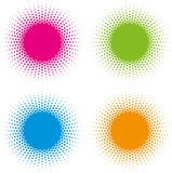 Set of Halftone circle frames vector design elements. Stock Image