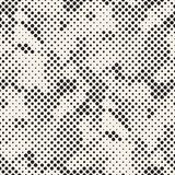SET 50 Halftone Circles Grids Invert. Modern Stylish Halftone Texture. Endless Abstract Background With Random Size Circles. Vector Seamless Mosaic Pattern royalty free illustration