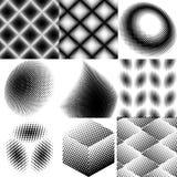 Set of halftone dots pattern Royalty Free Stock Image