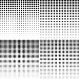 Set of halftone dotted backgrounds. Halftone effect vector patte Royalty Free Stock Image