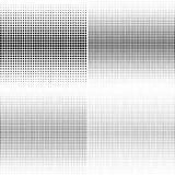 Set of halftone dotted backgrounds. Halftone effect vector patte Royalty Free Stock Images