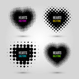 Set with halftone hearts Royalty Free Stock Photo