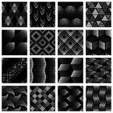 Set halftone kropkujący wzory Fotografia Royalty Free