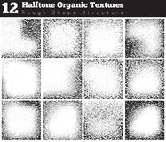 Set of halftone overlay textures Royalty Free Stock Photos