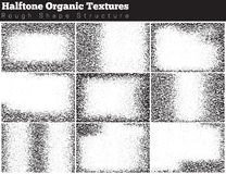 Set of halftone overlay textures Royalty Free Stock Photography