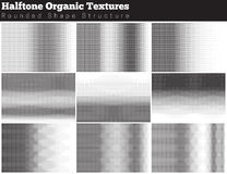 Set of halftone overlay textures Royalty Free Stock Images
