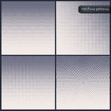 Set of halftone textures. Stock Photography