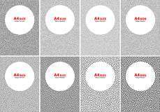Set of Halftone White Dots on Gray Backgrounds, A4 size. Set of Abstract Halftone White Dots on Gray Backgrounds, A4 size vector illustration Stock Photography