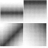 Set of 4 halftones. Vector illustration. Royalty Free Stock Image