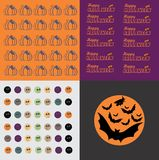 Set of Halloween. Abstract graphic Stock Illustration