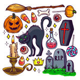 Set of Halloween attributes - 2 Royalty Free Stock Photography