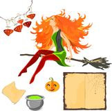 Set of Halloween attributes. Set the various attributes of Halloween Royalty Free Stock Photos