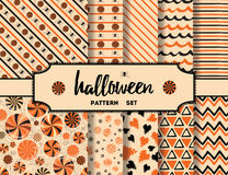 Set of halloween backgrounds Royalty Free Stock Photo