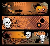 Set of Halloween banners Stock Image