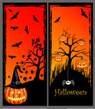 Set of Halloween banners Stock Images