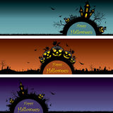 Set of Halloween banners Royalty Free Stock Image