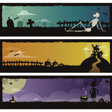 Set of 3 Halloween banners Stock Image