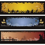 Set of 3 Halloween banners Royalty Free Stock Photo
