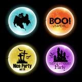 Set of Halloween banners Stock Photos