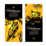 Set of Halloween banners Royalty Free Stock Photos