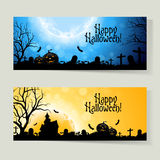 Set of Halloween Banners Stock Photography