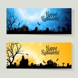 Set of Halloween Banners Stock Photography