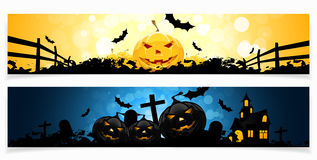 Set of Halloween Banners Royalty Free Stock Photography