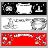 Set of Halloween banners. Stock Images