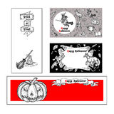 Set of Halloween banners. Royalty Free Stock Image