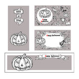 Set of Halloween banners. Royalty Free Stock Images