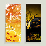 Set of Halloween Banners Royalty Free Stock Photo