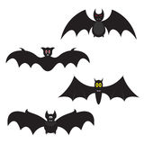 Set of Halloween bats Stock Images