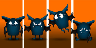 Set of halloween bats Royalty Free Stock Image