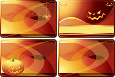 Set of Halloween cards Stock Image