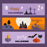 Set of halloween cards5 Stock Images