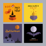 Set of halloween cards6 Stock Image