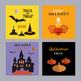 Set of halloween cards7 Stock Photo