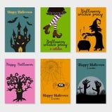 Set of Halloween cards. vector illustration