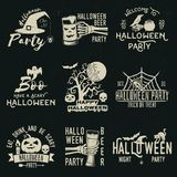 Set of Halloween celebration collection. Stock Image