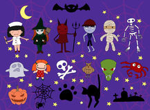 Set of halloween charackters Stock Image