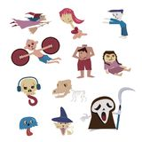 Set of Halloween character,ghost from many culture royalty free illustration