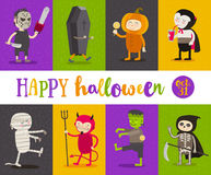 Set of Halloween characters Royalty Free Stock Photo