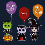 Set of Halloween characters Royalty Free Stock Image