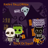 Set of Halloween characters Royalty Free Stock Images
