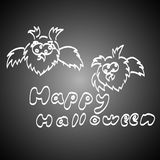Set Of Halloween on a dark background. Royalty Free Stock Images