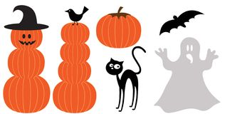 Set of halloween design elements Royalty Free Stock Images
