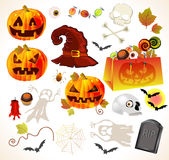 Set of halloween design elements Stock Images