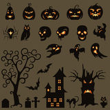 Set Of Halloween Design Elements Royalty Free Stock Photography
