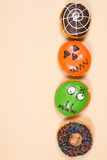 Set Halloween donuts obrazy stock