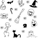Set with halloween doodle vector Royalty Free Stock Photography